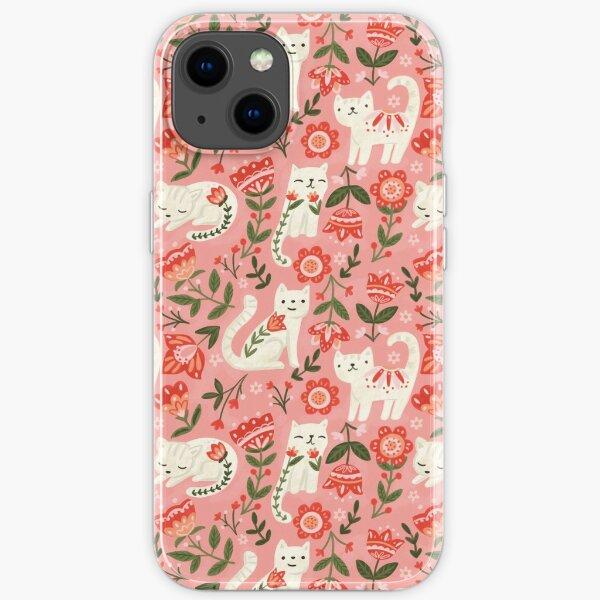 Folk Cat Pattern iPhone Soft Case