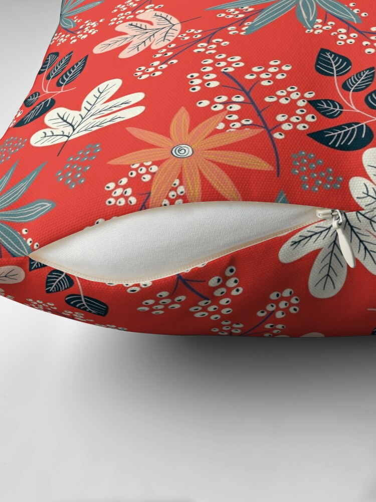 Alternate view of Red Dance Throw Pillow