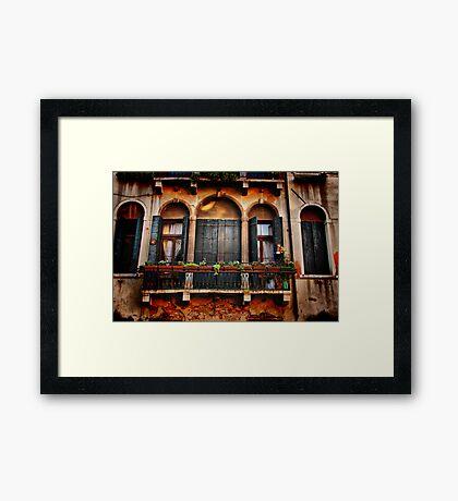 Venezian Windows Framed Print