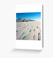 There no more - Ward Hunt Ice Shelf Greeting Card