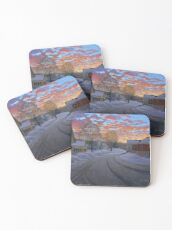 """Sunrise in the Center"" by Reed Prescott Coasters"