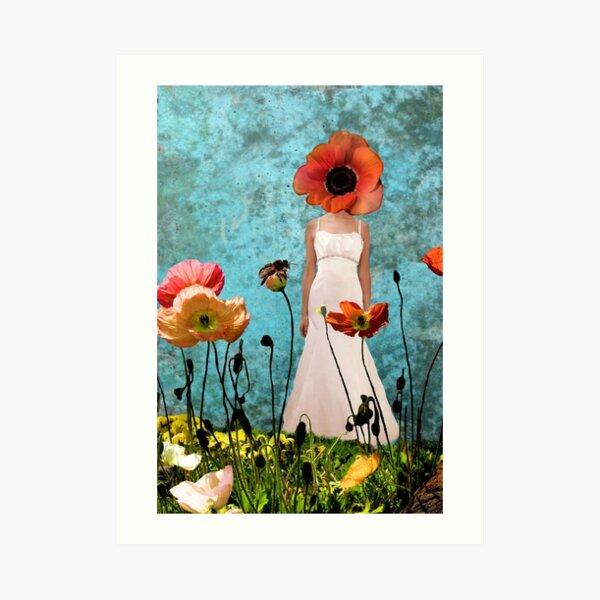 Lost in the poppy field Art Print