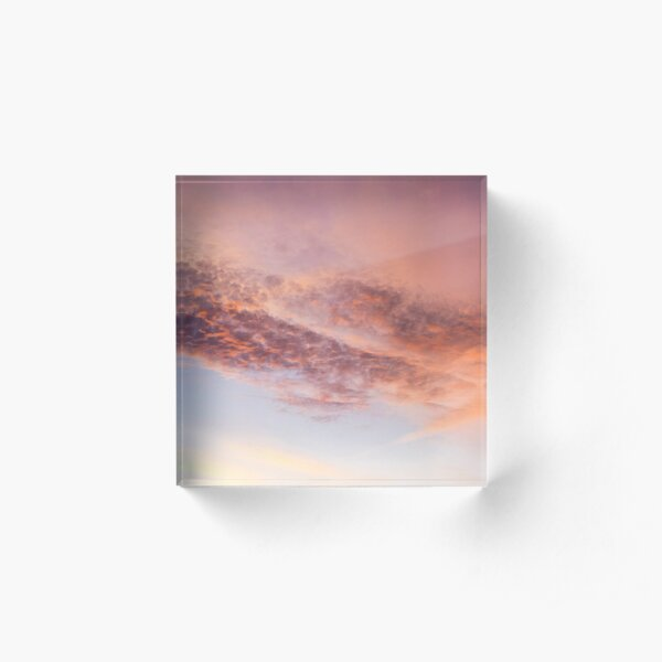 Watercolor Sky Acrylic Block