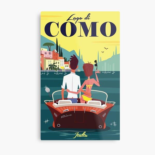Lake Como poster Metal Print