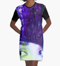 Eyes in the Forest Graphic T-Shirt Dress