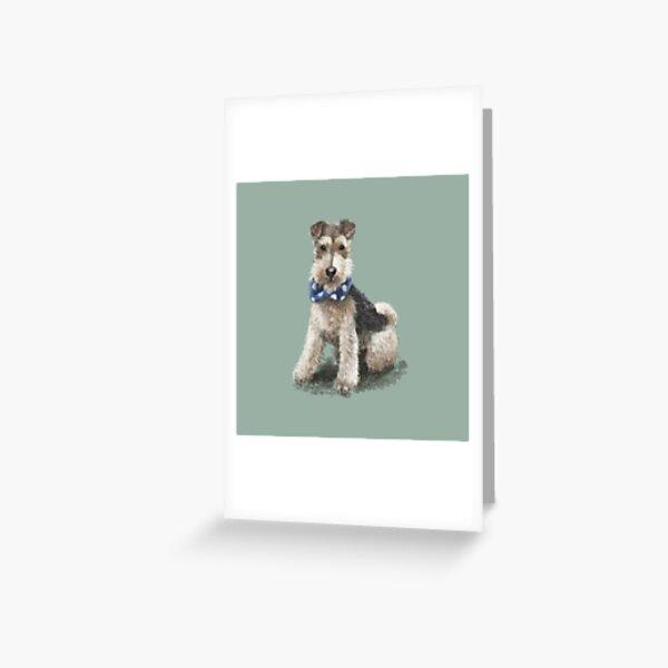 Stan the Fox Terrier Greeting Card