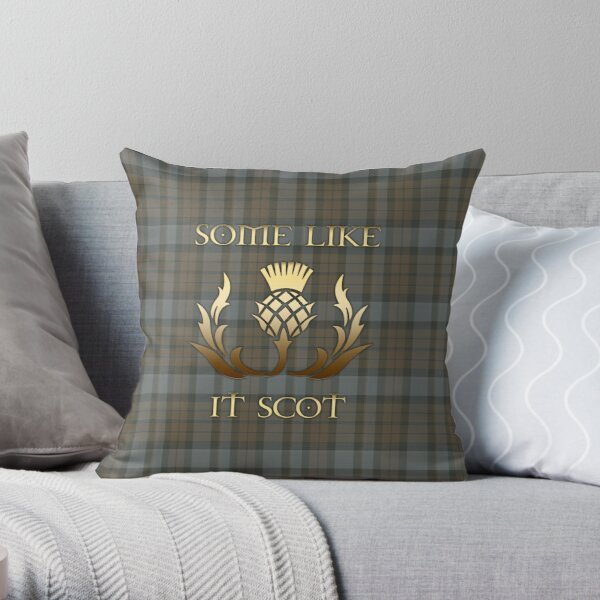 Some like it scot - Thistle - Outlander Throw Pillow