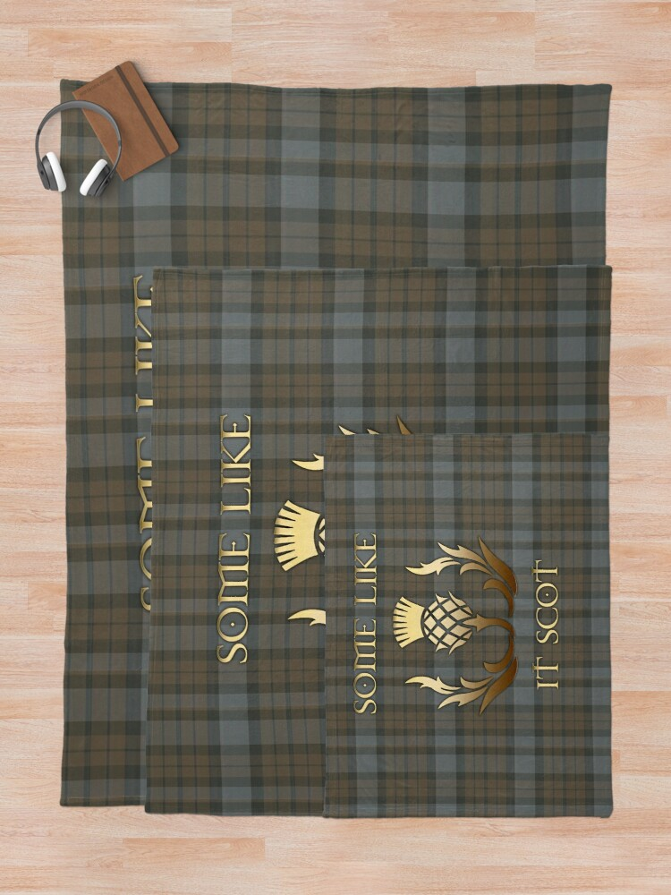 Alternate view of Some like it scot - Thistle - Outlander Throw Blanket