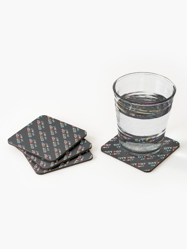 Alternate view of City Pop with Japanese title Coasters (Set of 4)