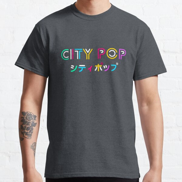City Pop with Japanese title Classic T-Shirt