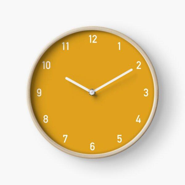 Horloge chiffres moutarde Horloge