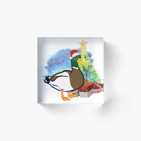 A Duck Christmas Acrylic Block