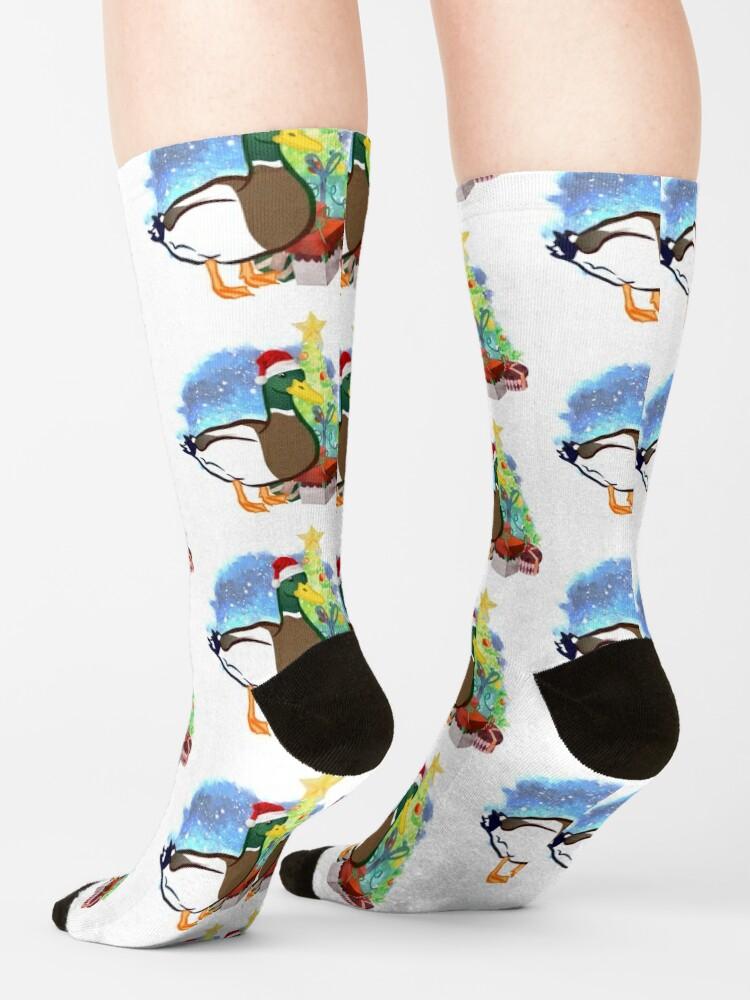 Alternate view of A Duck Christmas Socks