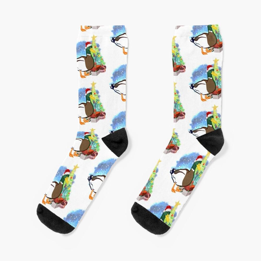 A Duck Christmas Socks