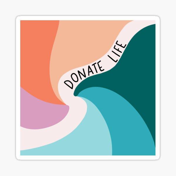 Donate Life Swirl  Sticker