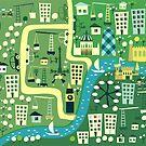Cartoon Map of London by Anastasiia Kucherenko