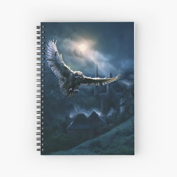 The Night of the Owl  Spiral Notebook