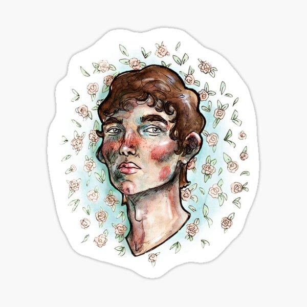 El chico de las flores Pegatina
