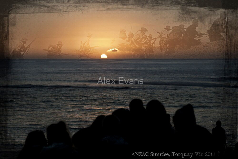 ANZAC Sunrise, Torquay Vic 2011 by Alex Evans