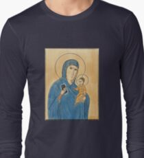 Madonna, child, and iPhone.  Long Sleeve T-Shirt