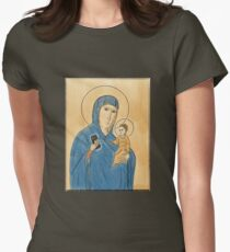 Madonna, child, and iPhone.  Fitted T-Shirt