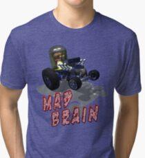 Wierd Wheels Mad Brain Tri-blend T-Shirt