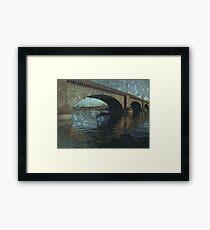 Underwater Timey Wimey Framed Print