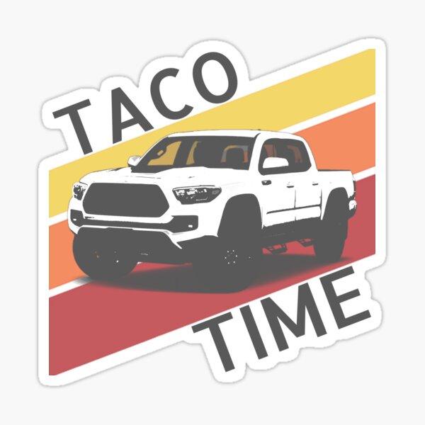 Taco Time Retro style Toyota truck Sticker