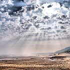 Heavenly Rays at Sandsend Beach by Sandra Cockayne