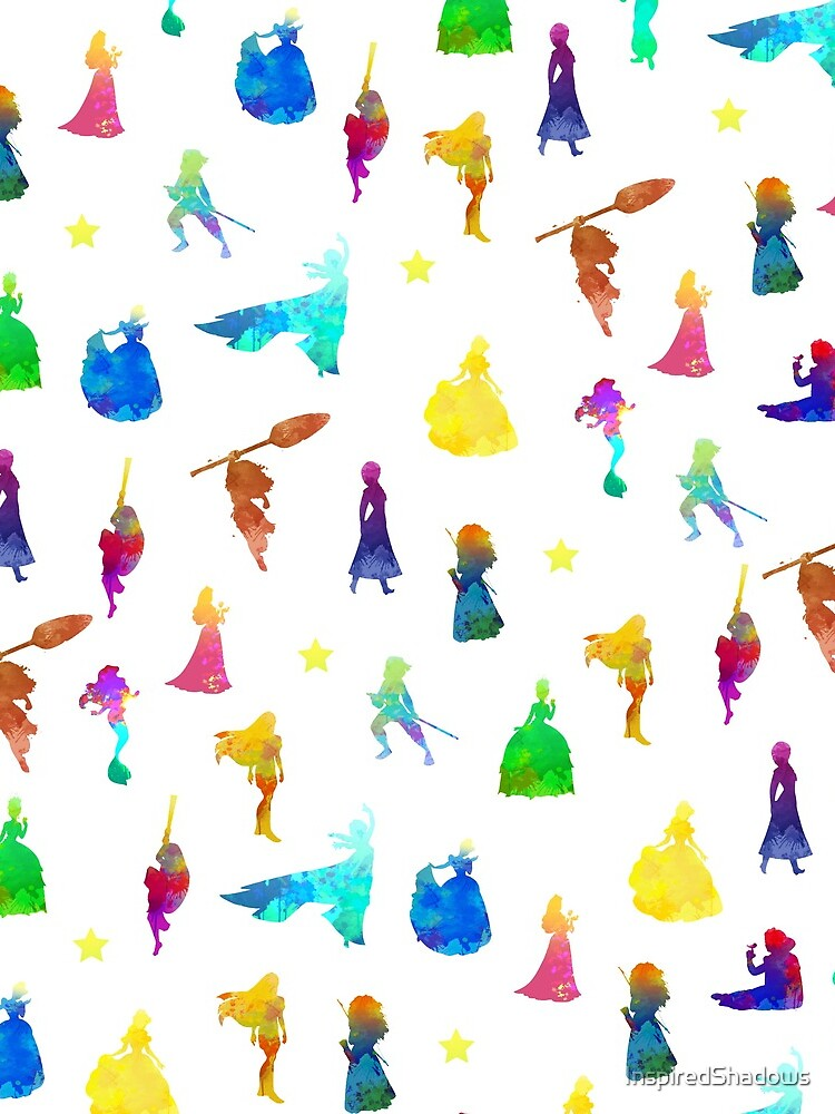 Princess Pattern Inspired Silhouette by InspiredShadows