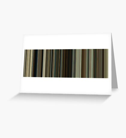 Moviebarcode: No Country for Old Men (2007) [Simplified Colors] Greeting Card