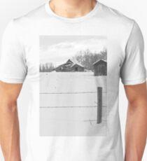 Shacks Winter Scene T-Shirt