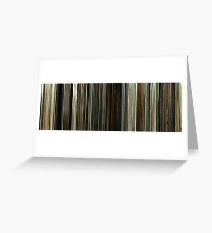 Moviebarcode: No Country for Old Men (2007) Greeting Card