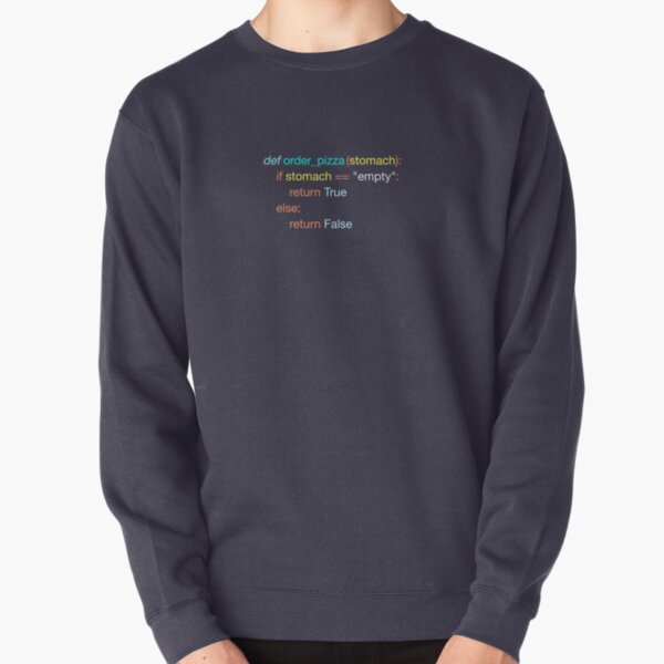 Hungry Coder - Python Edition (Light) Pullover Sweatshirt