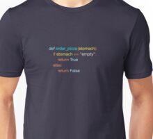 Hungry Coder - Python Edition (Light) Unisex T-Shirt