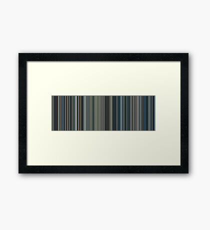 Moviebarcode: Moon (2009) [Simplified Colors] Framed Print
