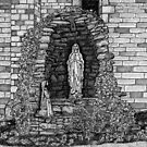 202 - LOURDES GROTTO, ST WILFRID'S CHURCH, BLYTH - DAVE EDWARDS - INK - 1997 by BLYTHART