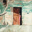 134 Abel Salgado- oil painting of a Mexican girl in a doorway  by James  Knowles