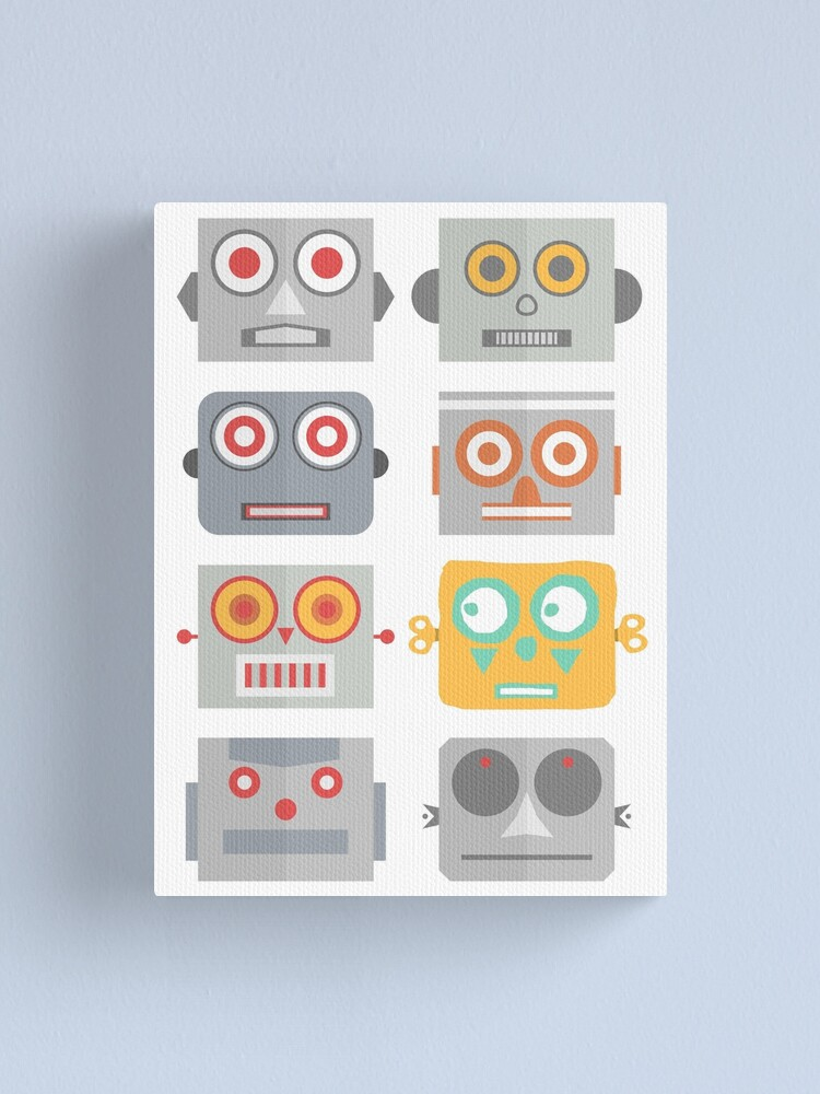 Alternate view of Robot Heads - Be yourself. Canvas Print