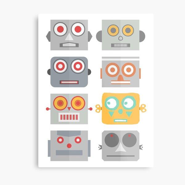 Robot Heads - Be yourself. Metal Print
