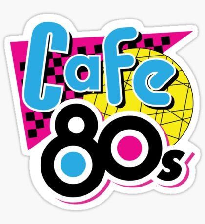 Cafe 80s Sticker