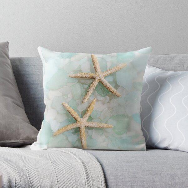 Starfish Seaglass 2 Throw Pillow