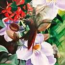 Colibre Laticia - oil painting of a humming bird by James  Knowles