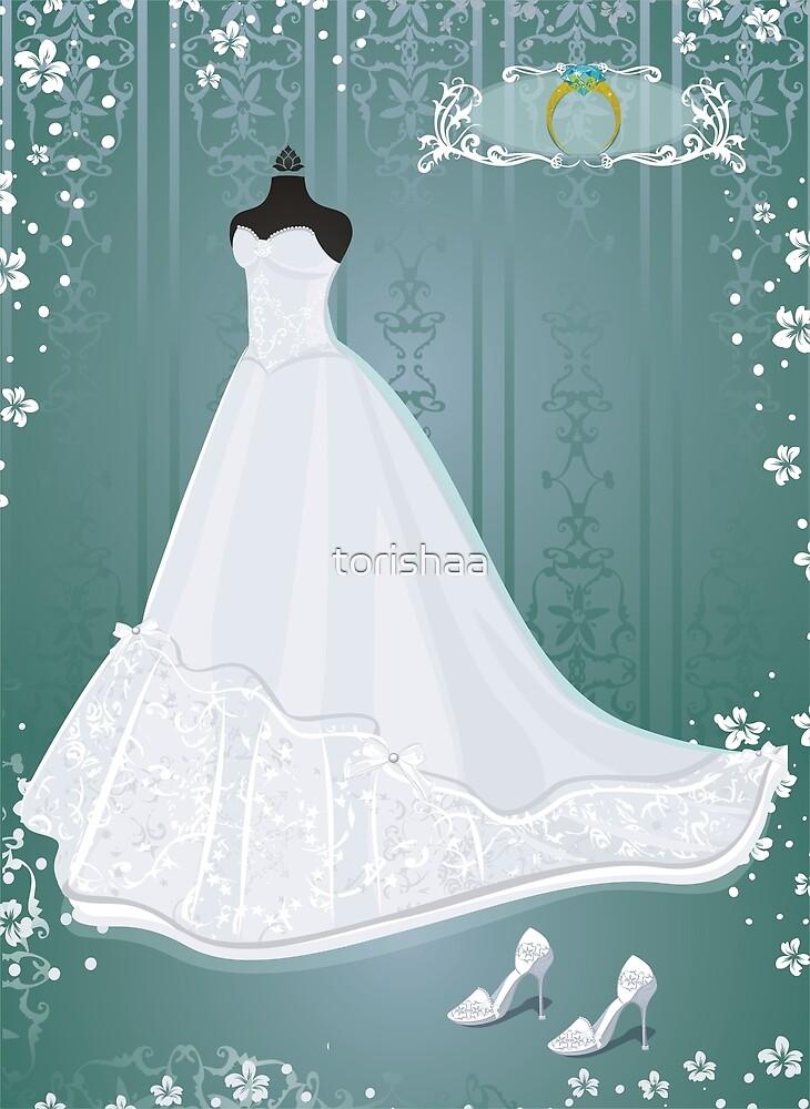 wedding dress  by torishaa