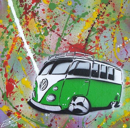 Splitty Splatter 01 Painting by yeomanscarart