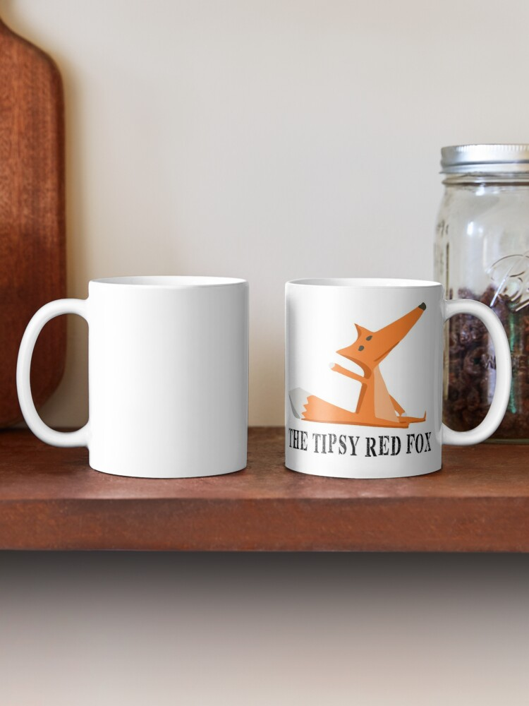 Alternate view of The Tipsy Red Fox T-Shirts - Clothes and Home decor Mug