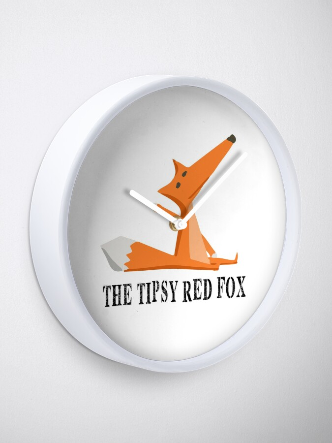 Alternate view of The Tipsy Red Fox T-Shirts - Clothes and Home decor Clock