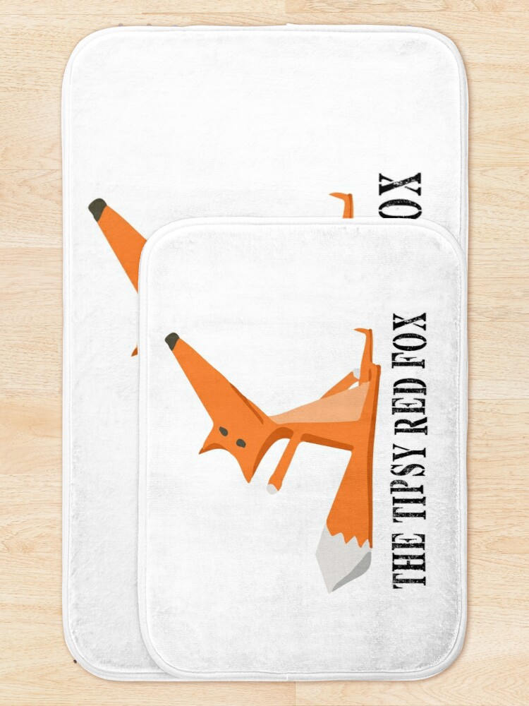 Alternate view of The Tipsy Red Fox T-Shirts - Clothes and Home decor Bath Mat