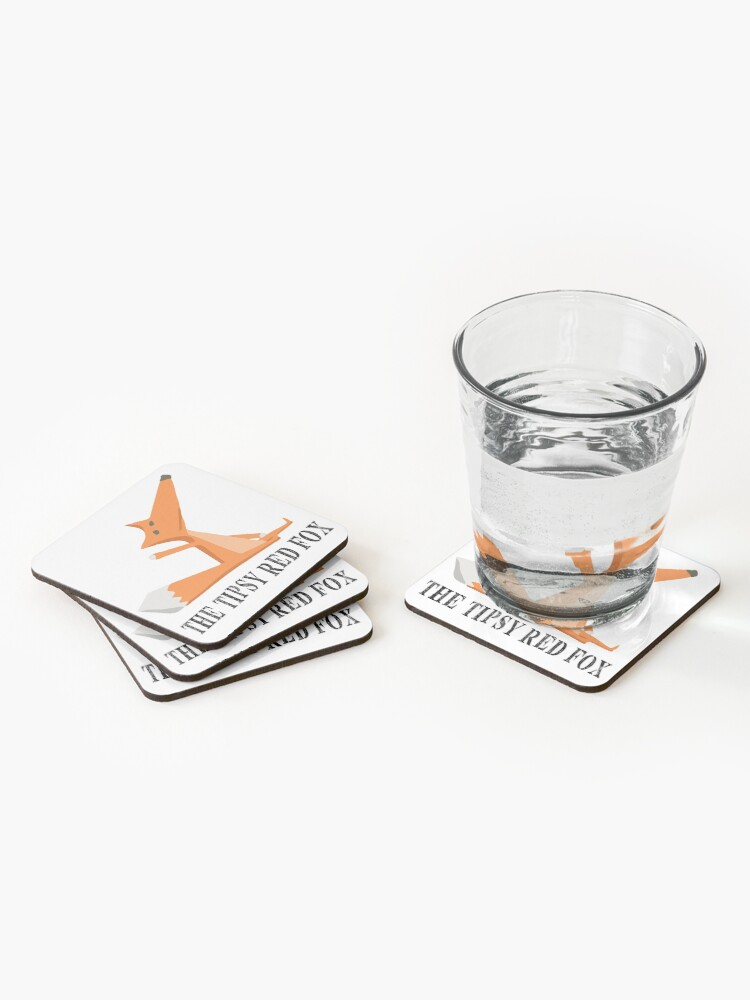 Alternate view of The Tipsy Red Fox T-Shirts - Clothes and Home decor Coasters (Set of 4)