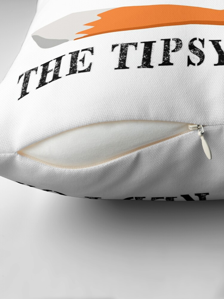 Alternate view of The Tipsy Red Fox T-Shirts - Clothes and Home decor Floor Pillow